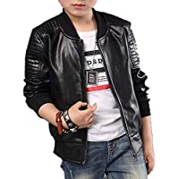 Boys Lightweight Leather Bomber Jackets