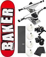 """ベイカースケートボードブランドロゴスケートボード8"""" x 31.5"""" Complete Skateboard–7項目のバンドル"""