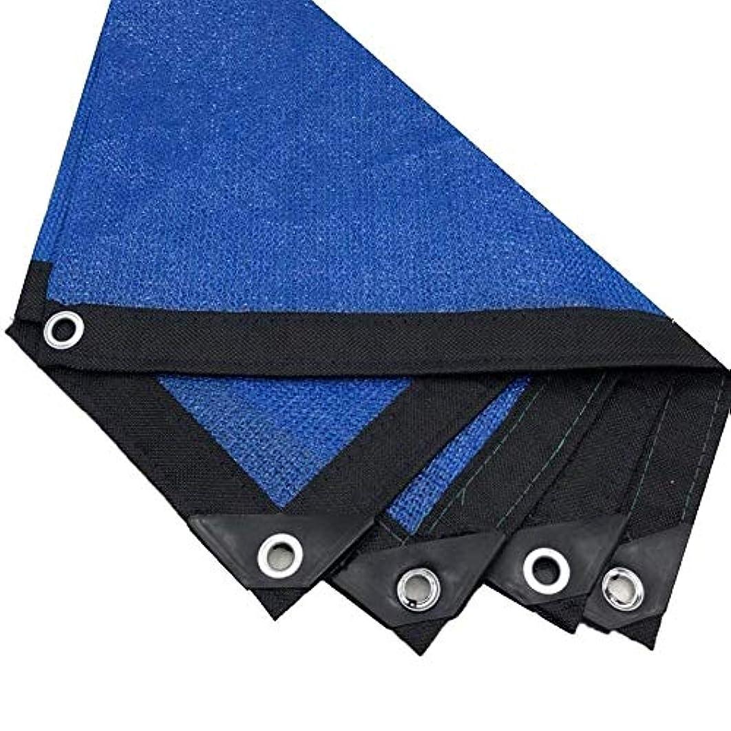 レタスバイオリニスト胚日よけネット、グロメット付き日焼け止めメッシュ、車の屋根カバーのための軽量メッシュ通気性サンシェードネット、庭、温室効果、納屋、犬小屋 ZHAOFENGMING (Color : Blue, Size : 5x6m)