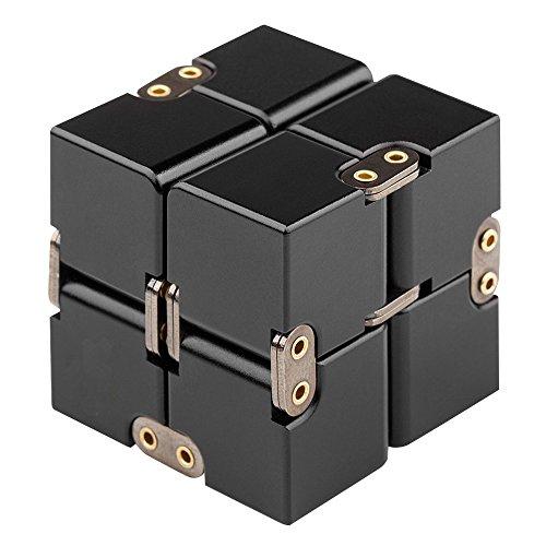 高品質 無限キューブ 任意の方向と角度から回転でき ストレス消し アルミニウム合金 減圧玩具 フォー...