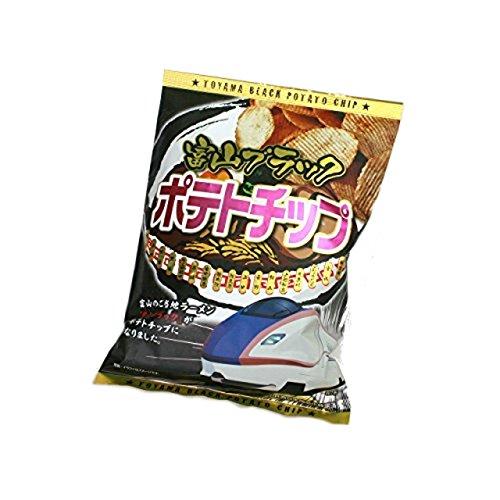 【富山のお土産】富山ブラックポテトチップス?ご当地ラーメンがポテトチップスになりました? (7袋)