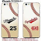 iPhone6s ケース 名入れ カバー 野球 ユニフォーム 背番号 ボール iphoneケース アイフォン iphone6s 名前入り オリジナル クリア ハードケース オーダーメイド カスタム スマホ