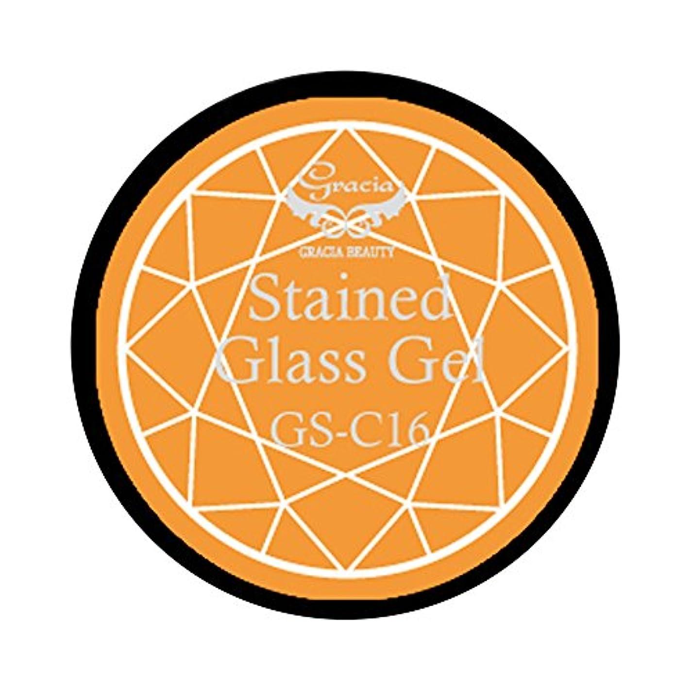 任意神学校なんでもグラシア ジェルネイル ステンドグラスジェル GSM-C16 3g  クリア UV/LED対応 カラージェル ソークオフジェル ガラスのような透明感