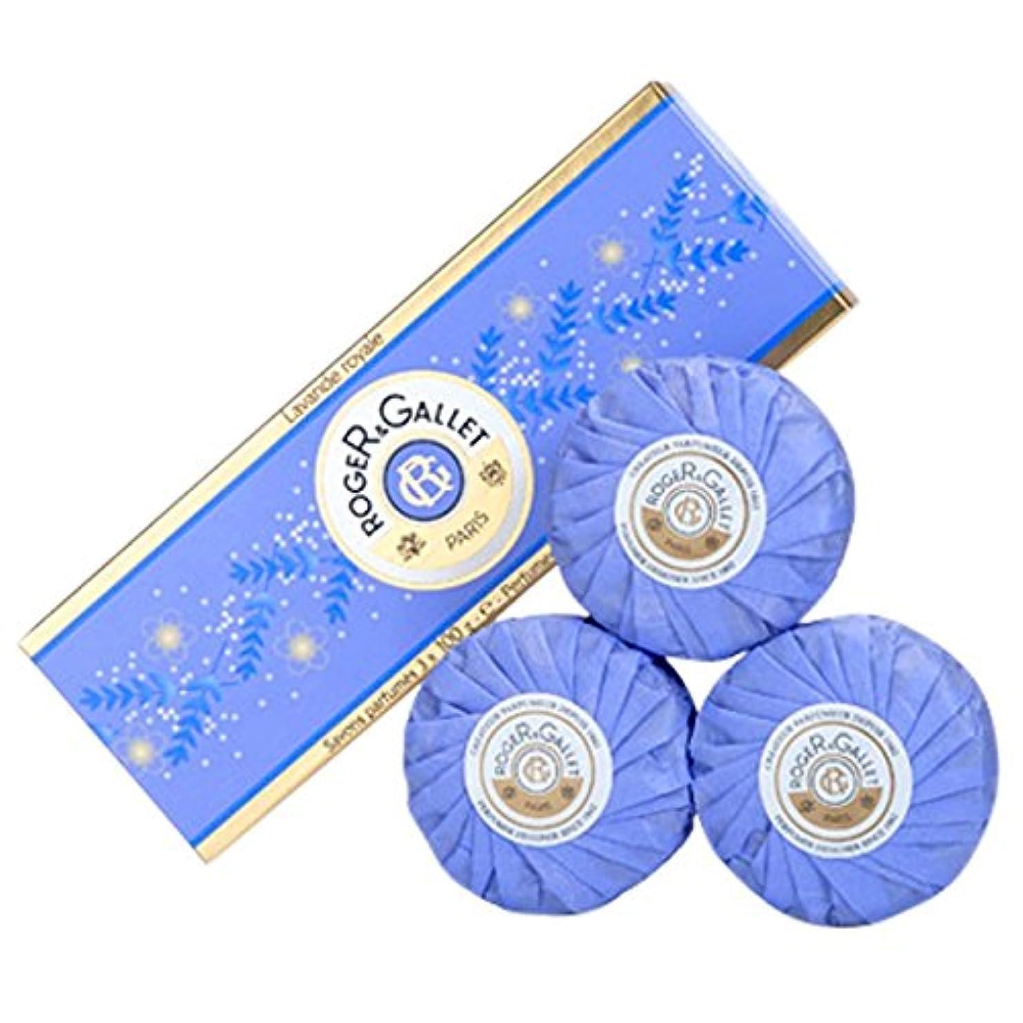 子供っぽいファンシー油ロジャー&Galletのラバンデロワイヤルソープコフレ3つのX 100グラム (Roger & Gallet) (x6) - Roger & Gallet Lavande Royale Soap Coffret 3 x...