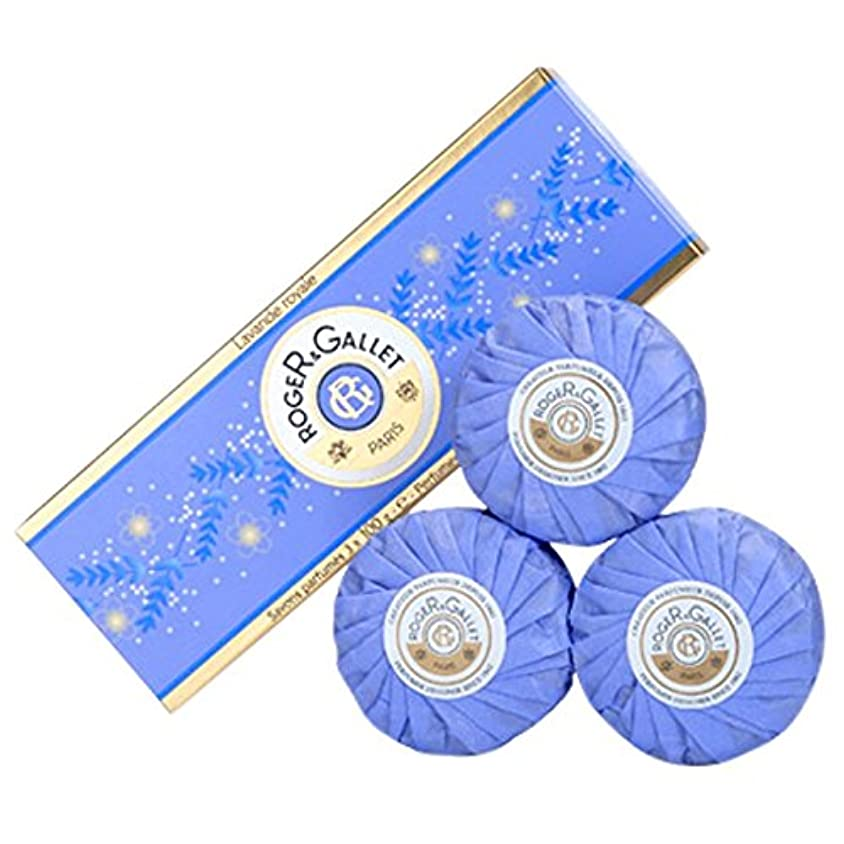 ウェーハ彼自身シプリーロジャー&Galletのラバンデロワイヤルソープコフレ3つのX 100グラム (Roger & Gallet) - Roger & Gallet Lavande Royale Soap Coffret 3 x 100g...