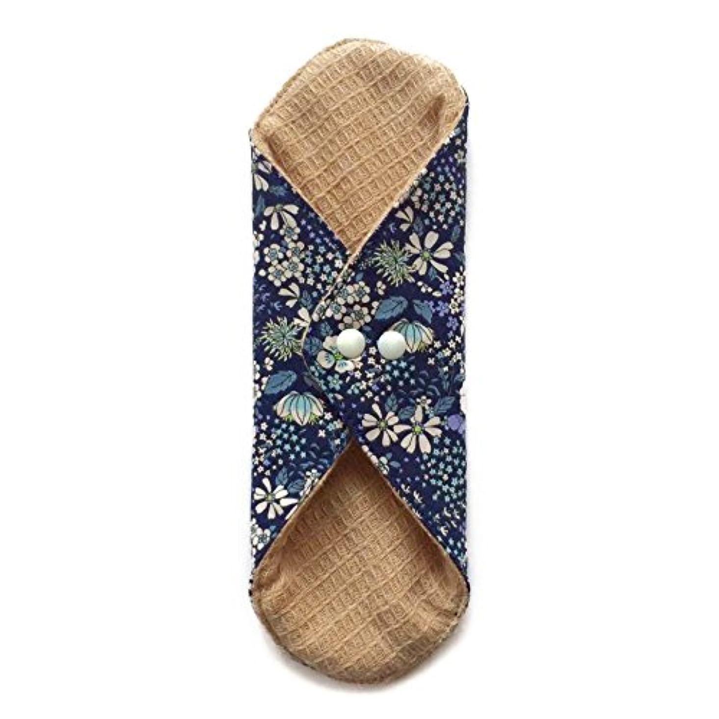 ウェブゆでるふつう華布のオーガニックコットンの極み あたため布 Lサイズ (約18×約20.5×約0.6cm) 雅(ネイビー)
