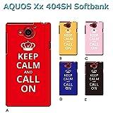 AQUOS Xx 404SH (個性派07) C [C016603_03] Keep Calm 格言 イギリス CALL ON アクオス スマホ ケース softbank