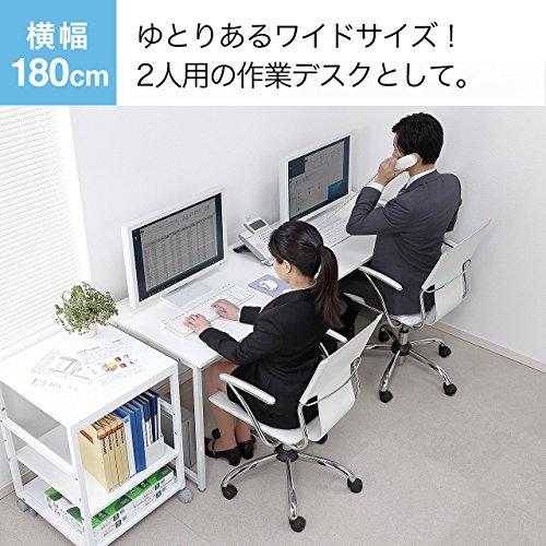 サンワダイレクト シンプルワークデスク 平机 パソコンデスク W180cm×D60cm 100-DESKF007