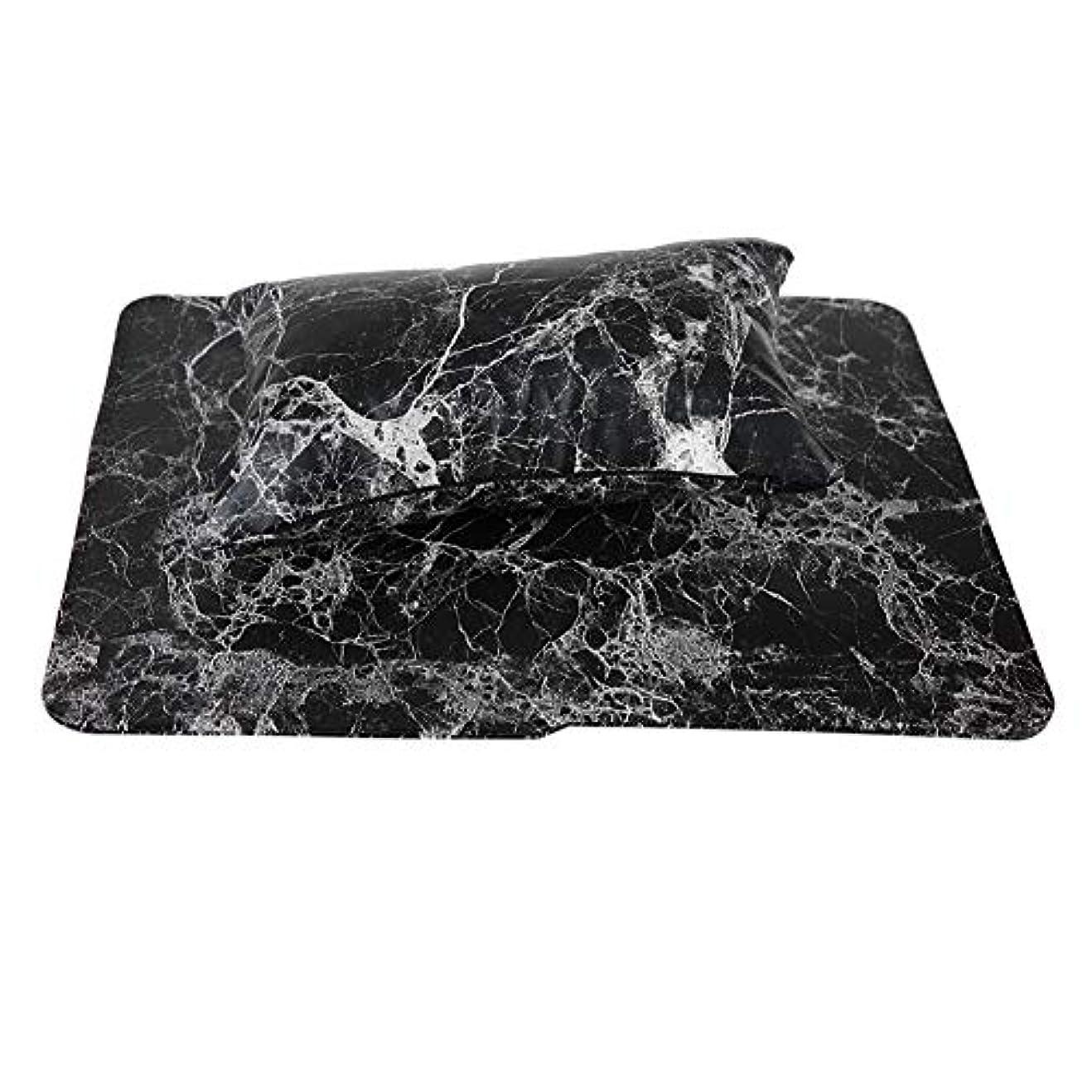 シェルター確執皿新しいネイルハンドピローアップ材料は手洗いすることができます(黒)