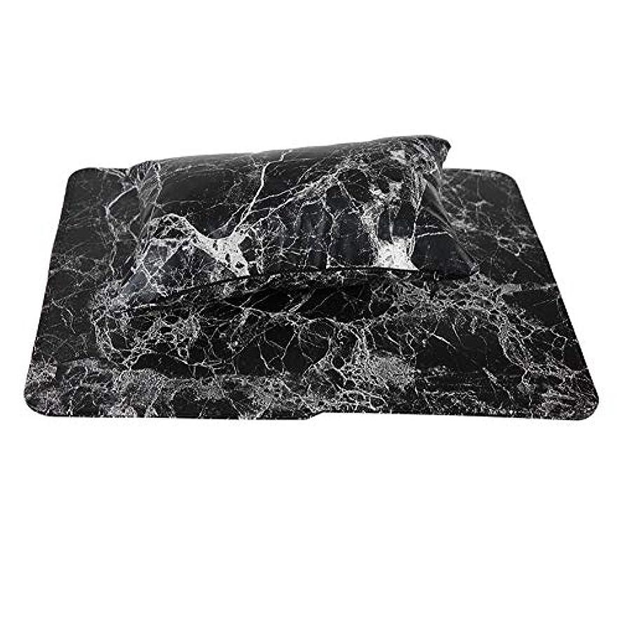 レイヒューバートハドソン刻む新しいネイルハンドピローアップ材料は手洗いすることができます(黒)