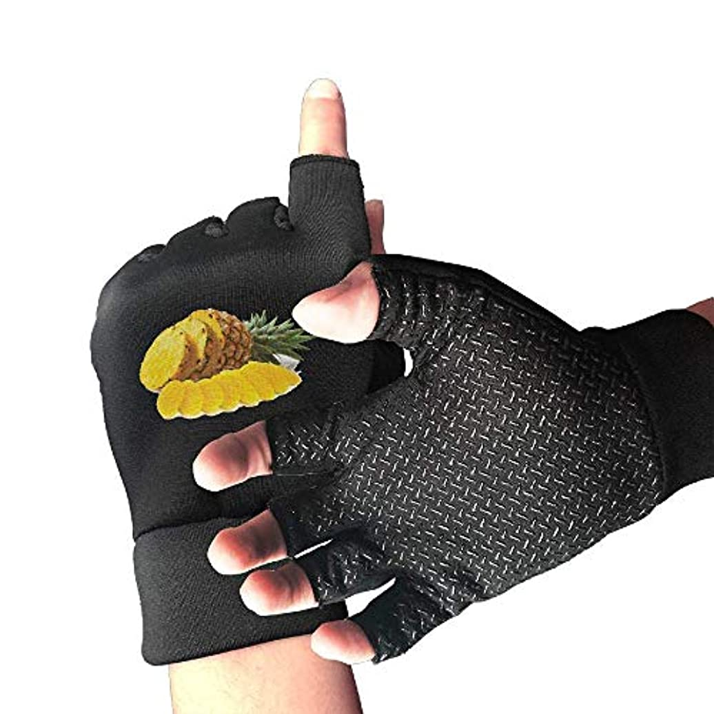 対人血まみれのラオス人Cycling Gloves Pineapple Pieces Men's/Women's Mountain Bike Gloves Half Finger Anti-Slip Motorcycle Gloves