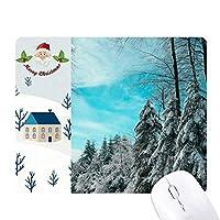 松雲と青い空 サンタクロース家屋ゴムのマウスパッド