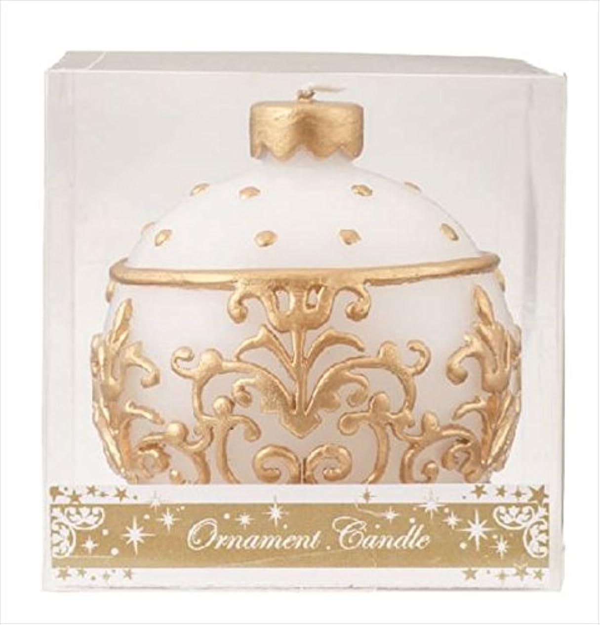 葉っぱの挨拶するカメヤマキャンドル(kameyama candle) オーナメントキャンドル 「 ホワイト 」