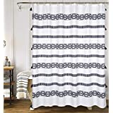 YoKii Boho Fabric Shower Curtain, Fabric, 80's Boho, 72 x 72