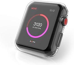 【2個セット】BRG コンパチブル apple watch ケース,全面保護ケース(スクリーンカバー) コンパチブル apple watch series 4だけに対応 コンパチブル apple watch カバー TPU 耐衝撃性 高感度 コンパチブル アップルウォッチ カバー 精密操作 アップルウォッチケース (44mm,クリア)