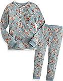 [Vaenait Baby]キッズ12ヶ月-9歳綿100%ルームウェア長袖パジャマ寝間着上下セット Long Lacy Blue 90