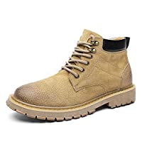 [MUMUWU] メンズ レディース 安全靴 作業靴 ショートブーツ 先芯入り ファション 通気性 イングランド風 マーティンブーツ エンジニアブーツ ローカット (Color : カーキ, サイズ : 26 CM)