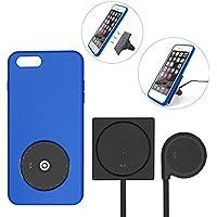 ieGeek 急速ワイヤレス充電器 ワイヤレスチャージャー 急速充電対応 iPhone 7 充電パッド 置くだけで充電 無線充電器 高速ワイヤレス充電(ブルー2)