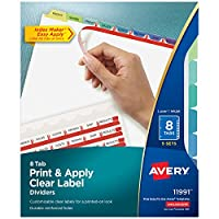 Index Maker Clear Label Contemporary Color Dividers, 8-Tab, 5 Sets/Pack (並行輸入品)