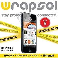 Wrapsol ラプソル 衝撃吸収フィルム 液晶+側面+背面保護 iPhone5 対応 WPIP5ULTR-FB
