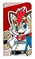 スマホケース 手帳型 ベルトなし sh-02g 手帳型カバー 8173-A. A. FREP THE FOX sh-02g カバー [disney mobile on docomo sh-02g] ディズニー モバイル オン ドコモ 日本ハム ファイターズ