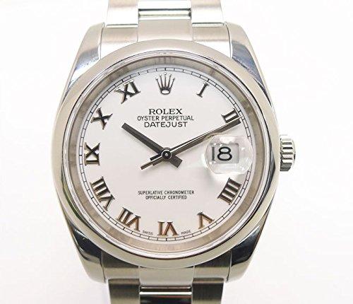 ロレックス デイトジャスト Ref.116200 SS D番 自動巻き メンズ腕時計 オイスターブレスレット ホワイトローマン文字盤 [中古]