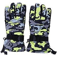 SIKIWIND スキー手袋 ファッション グローブ ミット 防寒 防水 防風 保温 通気 肉厚 衝撃吸収 冬春 男性用