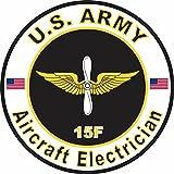 ミリタリーペットショップマグネット アメリカ陸軍 MOS15F 航空機 電気工事 ビニールマグネット 車 冷蔵庫 ロッカー メタルデカール 3.8インチ
