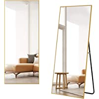 Miruo 全身鏡 スタンドミラー 大型 姿見鏡 全身ミラー 壁掛け鏡 アルミ合金フレーム おしゃれ スタイリッシュ 1…