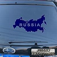 3s MOTORLINE Russiaロシアマップデカールステッカー車ビニールPickサイズカラーDie Cut No bkgrd 40'' (101.6cm) ブラック 20180409s21