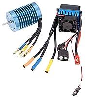 Jrelecs 28453100KV 4p Sensorlessブラシレスモーター& 35AブラシレスESC電子スピードコントローラーfor 1/ 141/ 161/ 18RC CA 3650 4370KV JR