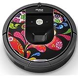 iRobot ルンバ Roomba 専用スキンシール ステッカー 960 980 対応 ユニーク クール 花 フラワー 模様 カラフル 007673