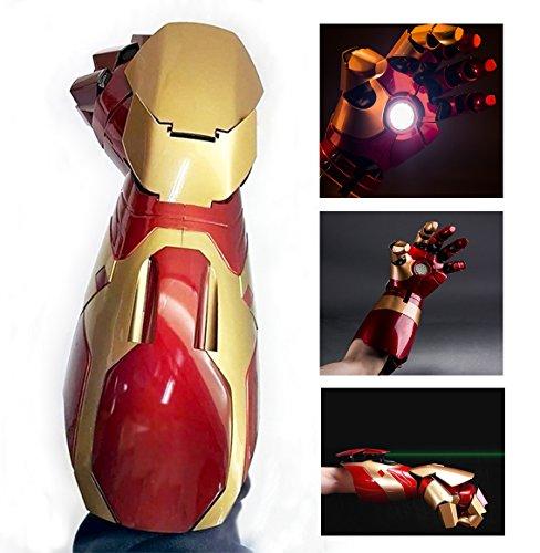 Gmasking アイアンマン電動型 Arc FXリストアーマー 装着可 ガントレット 1:1スケール 小道具