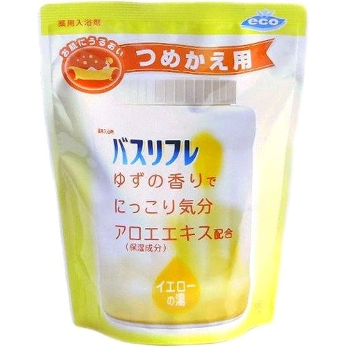 ライオンケミカル バスリフレ 薬用入浴剤 ゆずの香り つめかえ用 540g 4900480080102
