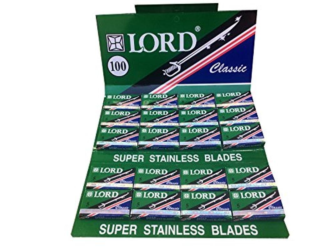 舌なレッスン引き受けるLord Classic Super Stainless 両刃替刃 100枚入り(5枚入り20 個セット)【並行輸入品】