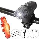 WEINAS 自転車 ライト led フロントライト 4モード テールライト 6モード USB給電 高輝度 簡単取り付け 防水、防滴仕様
