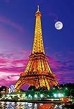 300ピース  大きく飾れる 大画面ジグソーパズル 世界遺産 エッフェル塔~夕暮れのセーヌ河~ ラージピース(49x72cm)