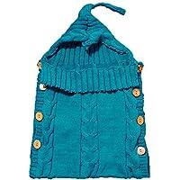 ベビー用寝袋 赤ちゃん用おくるみ 布団 ニット製 ボタン付き 肌触りいい 記念撮影 ギフトにも大人気 Kootk