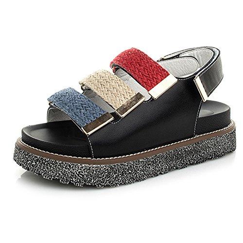 [해외]AmazingJP 통굽 샌들 샌들 여성 여름 스포츠 샌들 편안한 세련된 미각 검정 흰색/AmazingJP thick bottom sandals saddle ladies summer sports sandals easy-to-walk fashionable legs black white