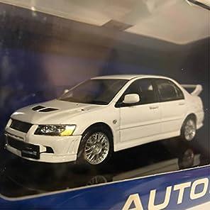 1/43 AUTOart 三菱 ランサーエボリューションⅦ ホワイト 白 オートアート製 ミニカー モデルカー ランエボ 7 Aa
