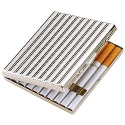 坪田パール タバコ ケース キングサイズ/ショート(85mm) 20本収納 シルバー 1-51407-81
