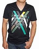 アルマーニ エクスチェンジ ARMANI EXCHANGE 半袖Tシャツ 黒 rxx A/X メンズ Vネック (M)