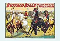 "Buffalo Bill :カウボーイ楽しい – The Bronco Busters Busy Day Fineアートキャンバス印刷( 20 "" x30 "" )"