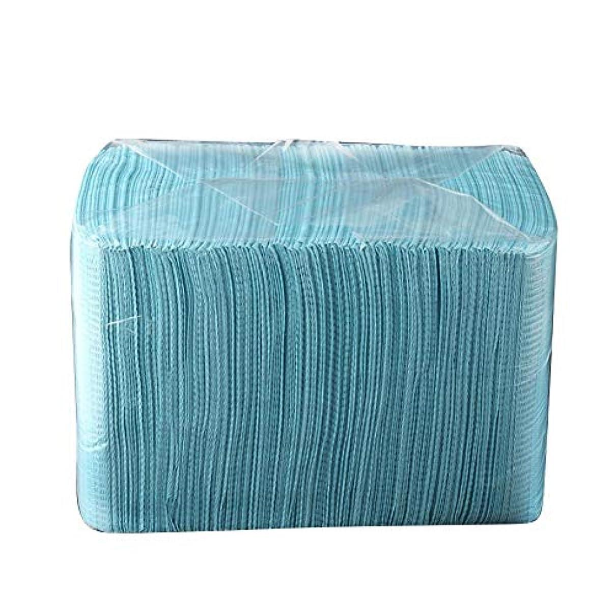 湿地タッチ曲線Graprx 125ピース使い捨て防水マット使い捨てタブレットタトゥー清潔パッド布個人衛生医療紙テーブルクロスマット葉タトゥーアクセサリー、ブルー