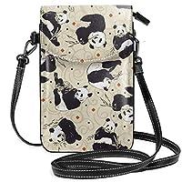 携帯電話財布-女性用小かわいいパンダクロスボディバッグハンドバッグ