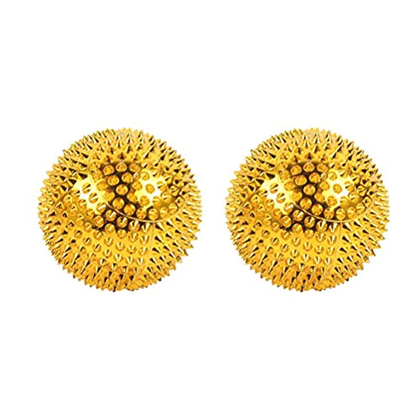 ただ正確な信号HEALIFTY 磁気マッサージボール先端のとがった鍼灸ボール指圧マッサージ2本(ゴールデン)