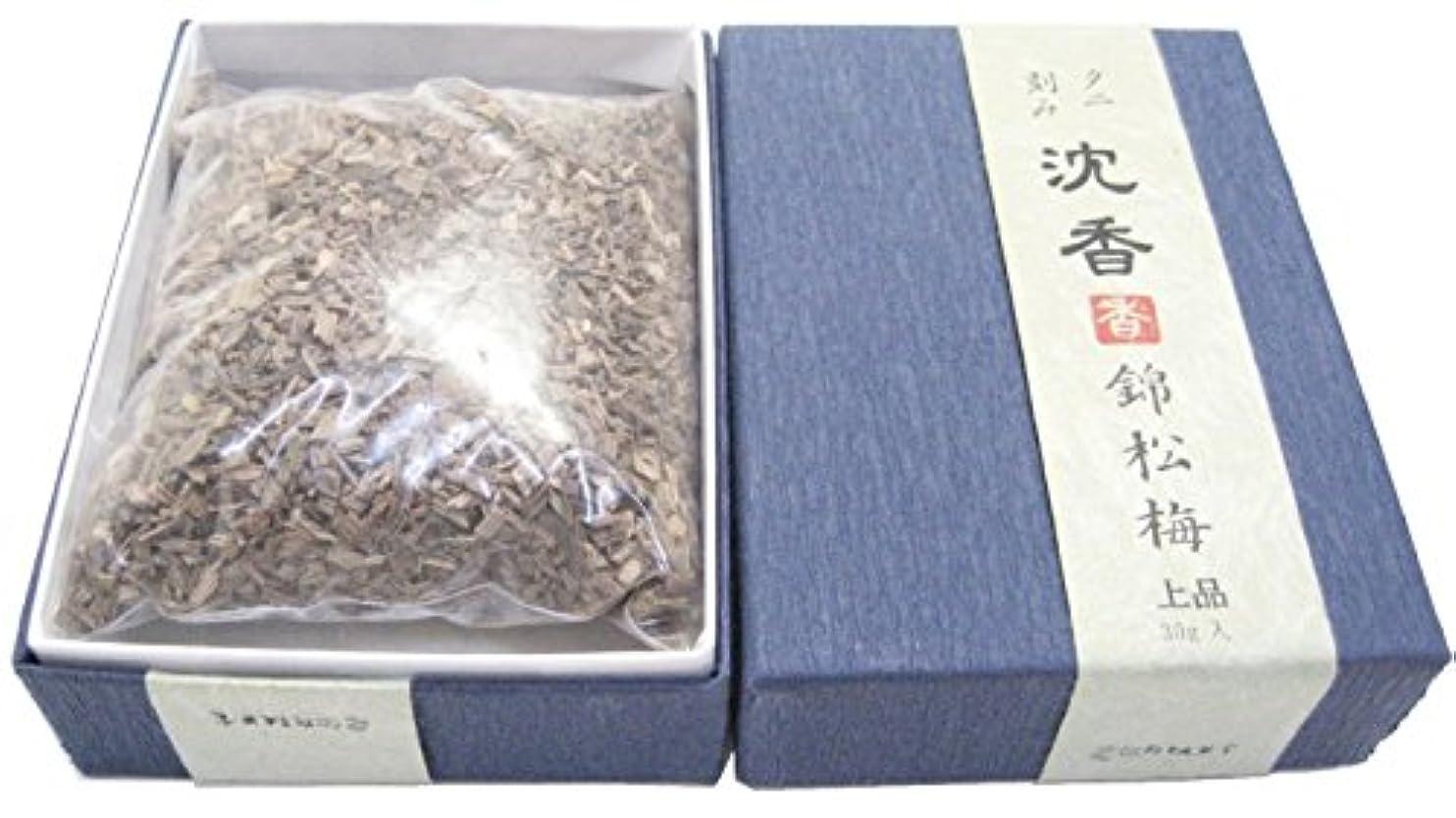 調子薬を飲むきれいに淡路梅薫堂のお香 上品タニ沈香錦松梅 30g #954 刻み お焼香
