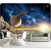 Xbwy カスタム3D壁画3Dラージスターユニバーススペース壁画リビングルームのソファの壁紙壁紙パーソナライズ壁紙用キッズルーム-280X200Cm