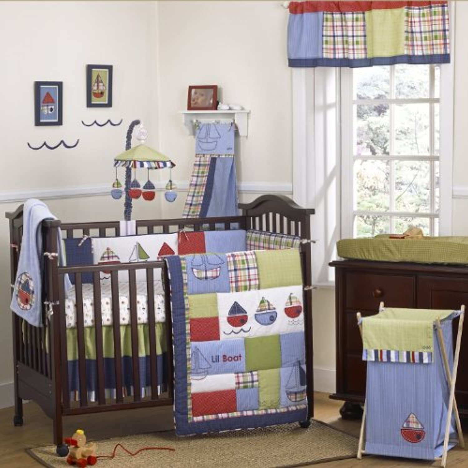 CoCalo Tug Boat Nursery Collection 6-Piece Crib Bedding Set by Cocalo
