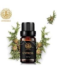 アロマセラピーサイプレスエッセンシャルオイル、100%ピュアサイプレスエッセンシャルオイルの香り、治療グレードサイプレスエッセンシャルオイルの香り、ディフューザー加湿器マッサージ用0.33oz-10ml